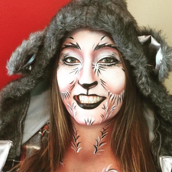wolf facepaint makeup