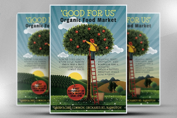 22  Grocery Flyer Templates