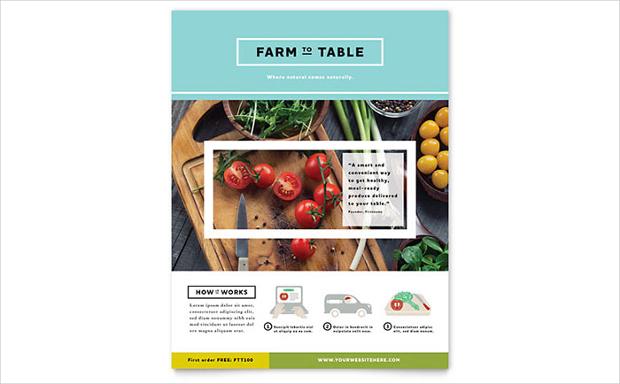 Organic Food Flyer
