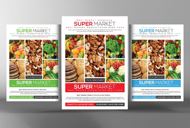 Grocery Flyer Templates  Printable Psd Ai Vector Eps Format