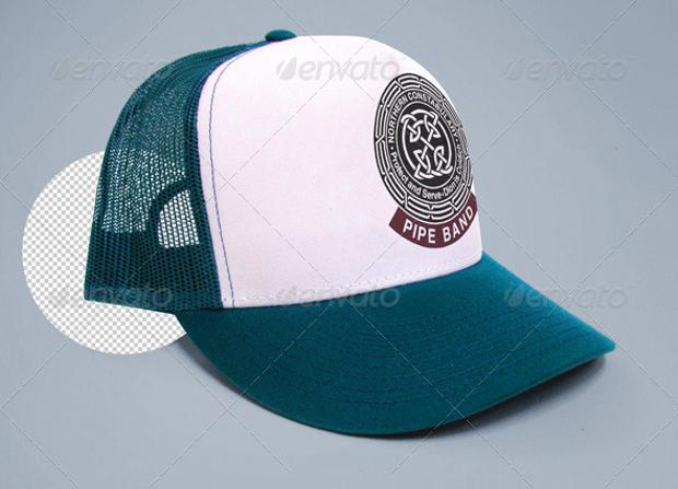 trucker cap t shirt mockup