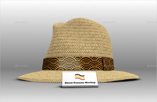 straw panama hat mockup1