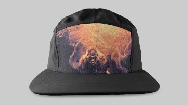 colorful black hat mockup
