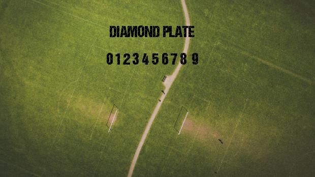 high quality diamond plate font