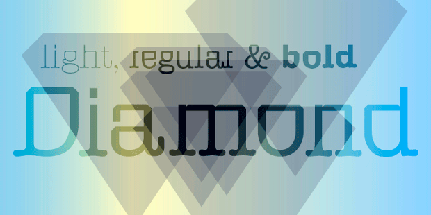 diamond bold font