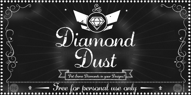 black diamond dust font