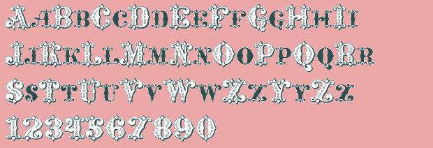 lucky diamond font