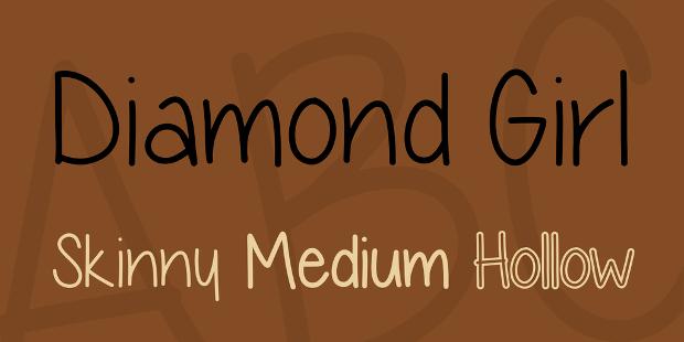 diamond girl regular font