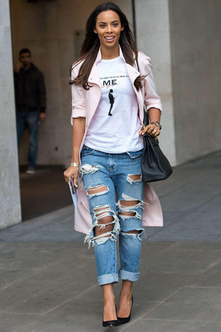 skinny and boyfriend fit jeans