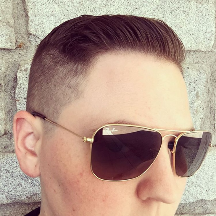 stylish crew cut for men