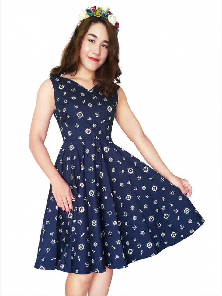 Anchor Pin Up Dress