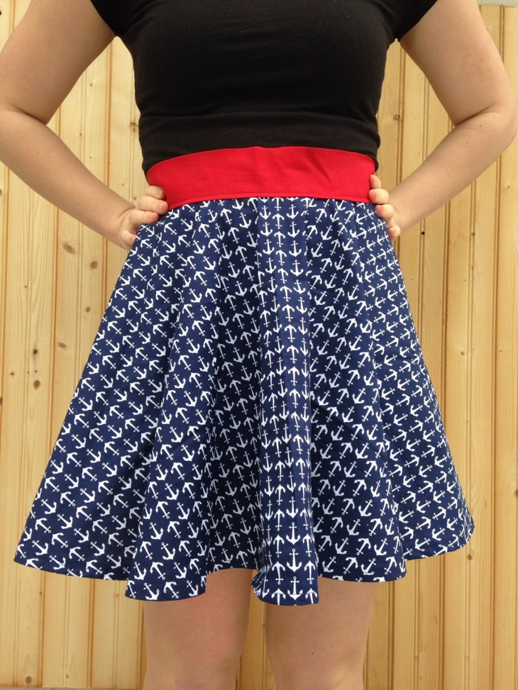 Anchor Print Skirt Design