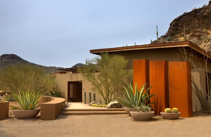 Exterior Container Cactus Rock Garden .