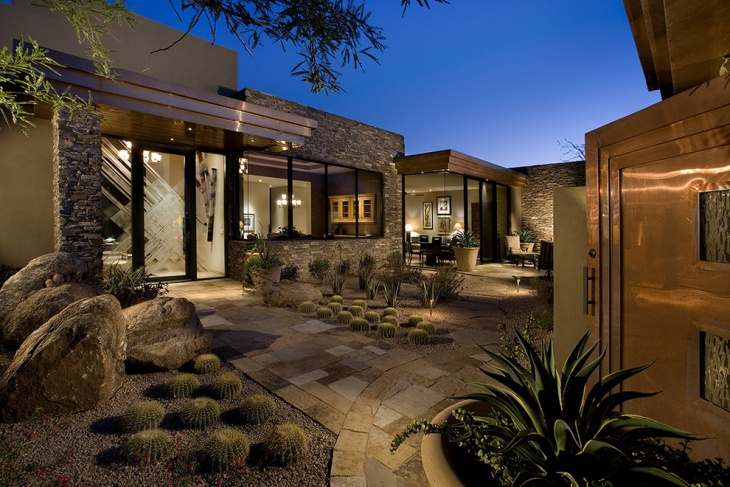 Outdoor Rock Cactus Garden