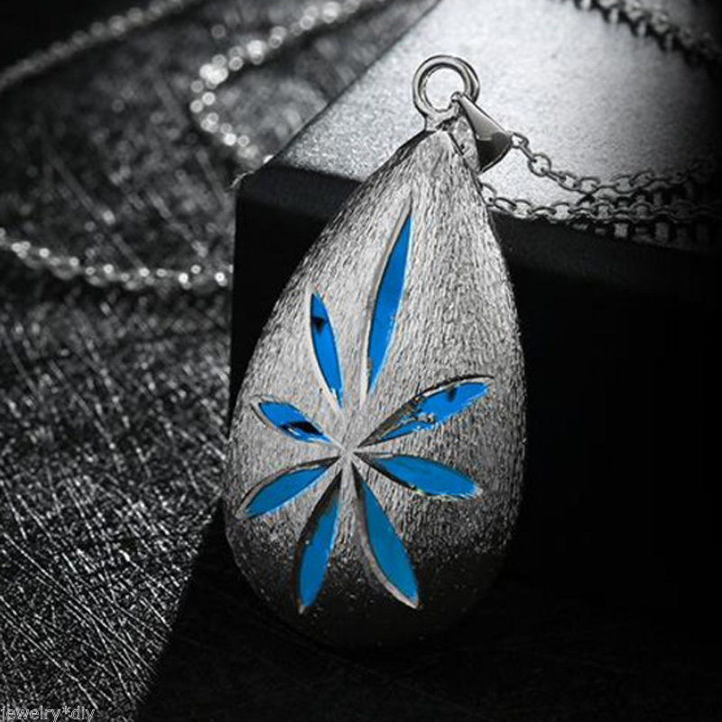 blue luminous fashion drop pendant