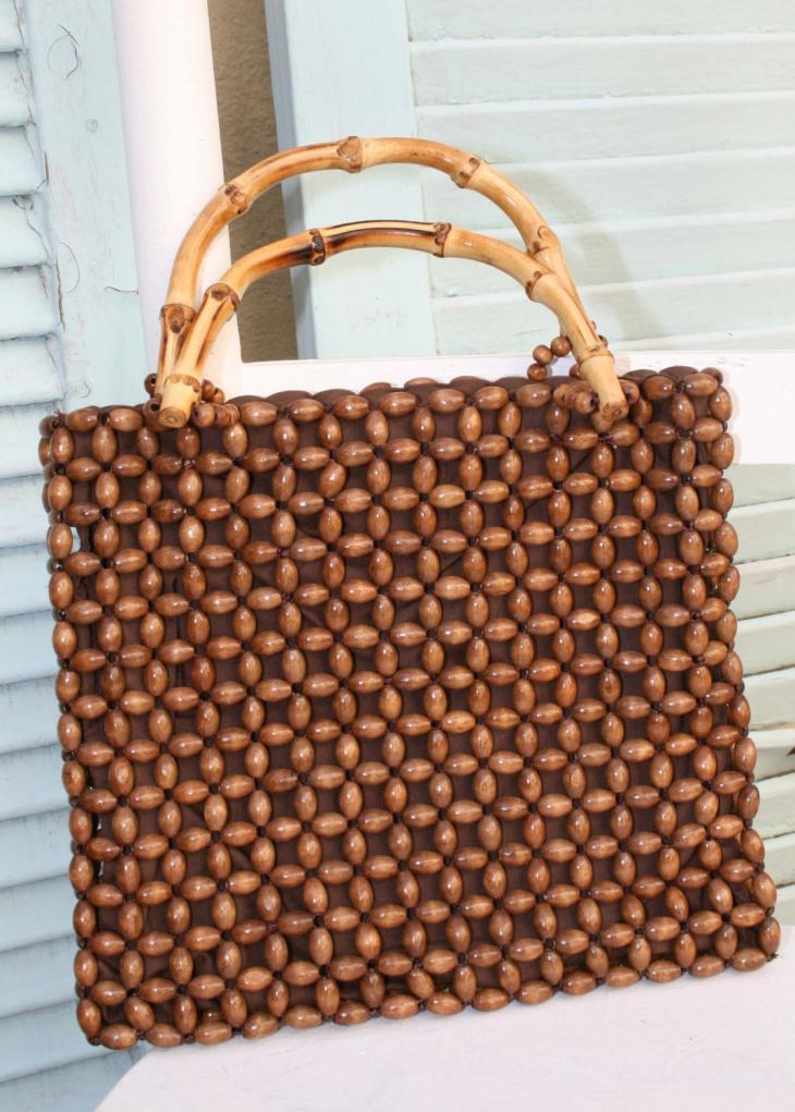 Bamboo Beaded Handbag