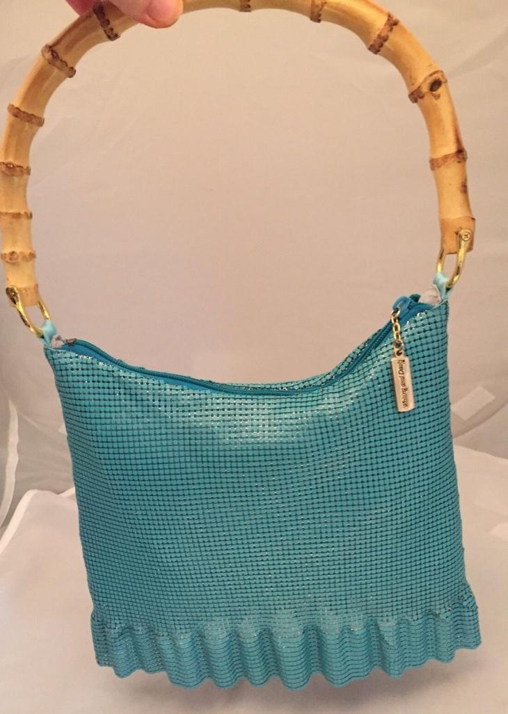 mesh bamboo handbag