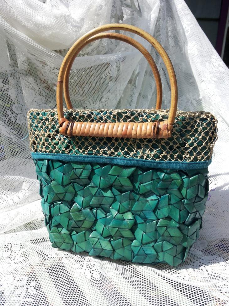braided bamboo handbag
