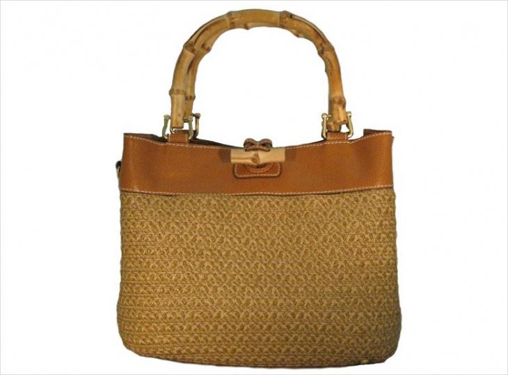 simple bamboo handbag