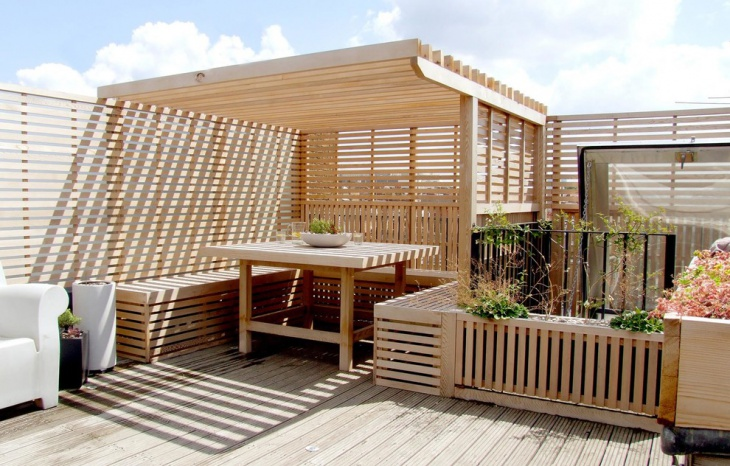 oak wood deck pergola