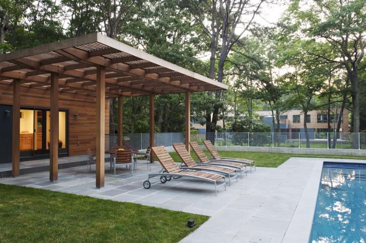 backyard wooden pergola idea