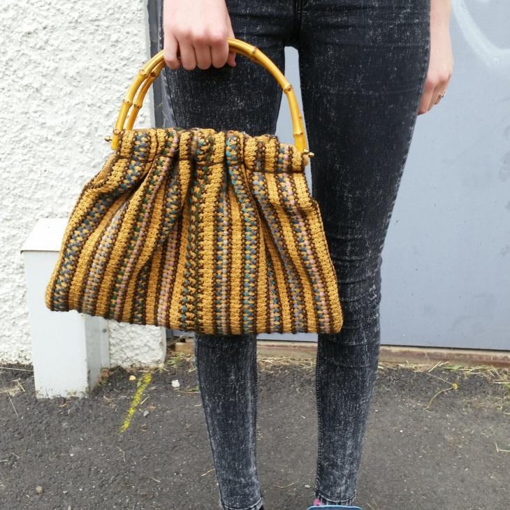 Retro Style Bamboo Bag