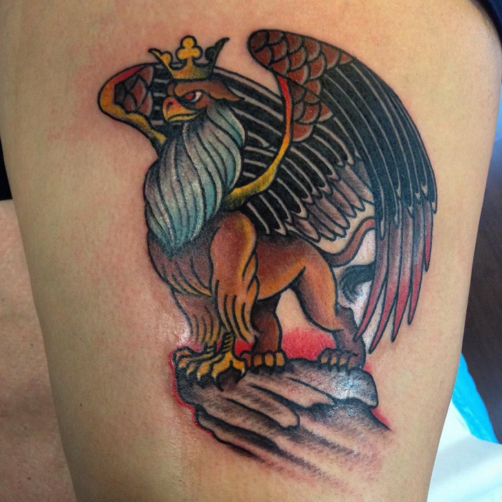 dragon griffin tattoo