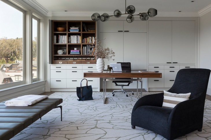 Classy Home office flooring idea