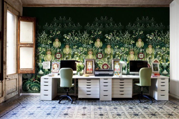 home office wall murals