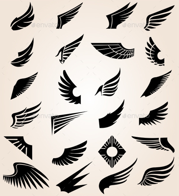 Abstract Vector Wings Illustration