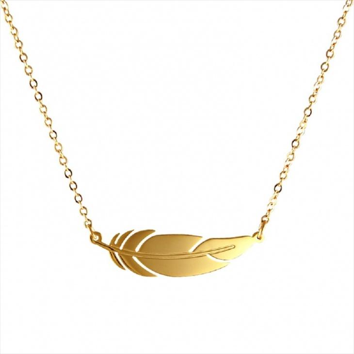 Gold Leaf Necklace Idea