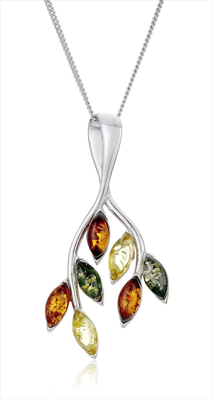 Multi Colored Leaf Pendant Necklace
