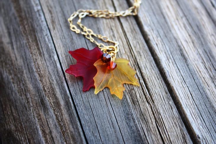 Cute Fall Leaf Necklace