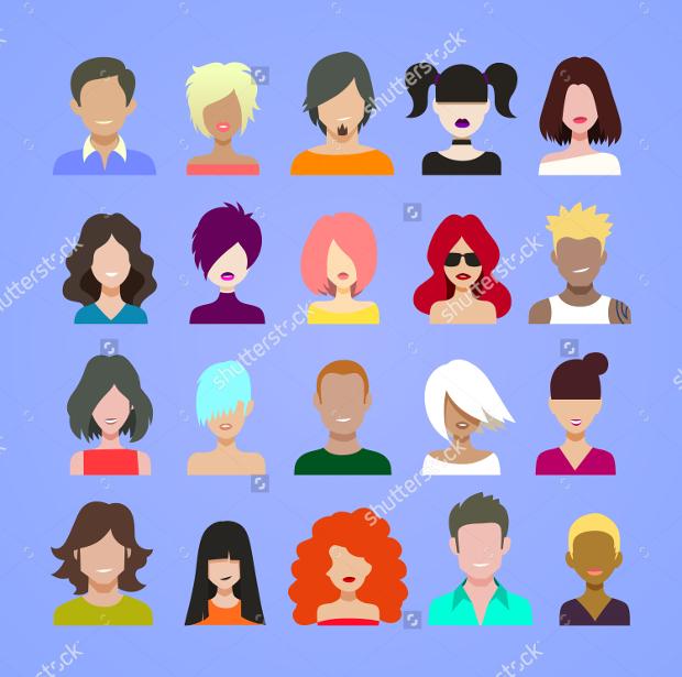 Vector Avatars Icons