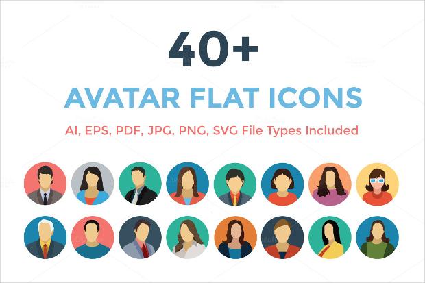 Flat Style Avatar Icons