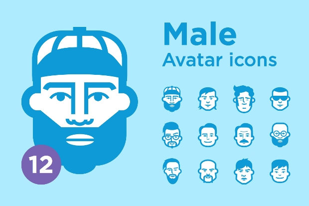 Male Avatar Icon Set