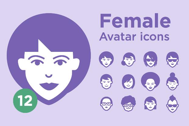 Female Avatar Icon Set