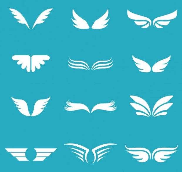 White Wings Free Vector