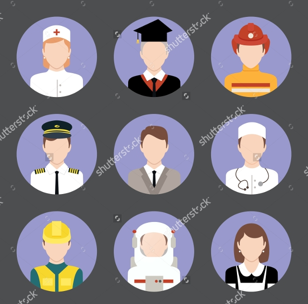 Business Avatar Flat Icons