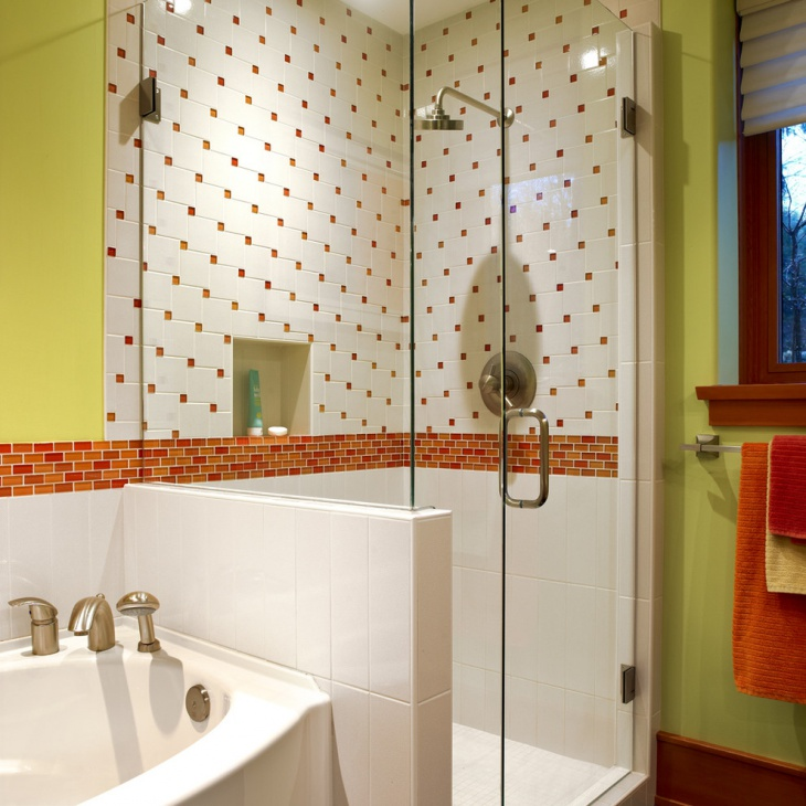 bathrooom shower attractive wall tiles