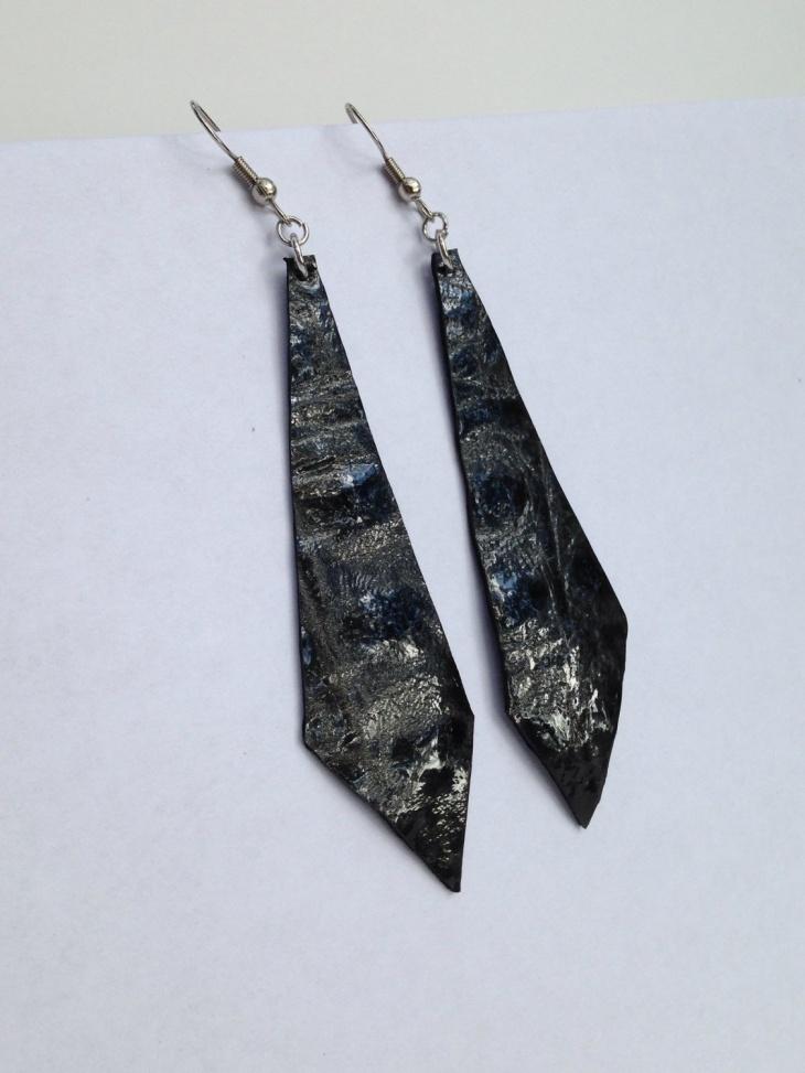 Black Geometric Earrings