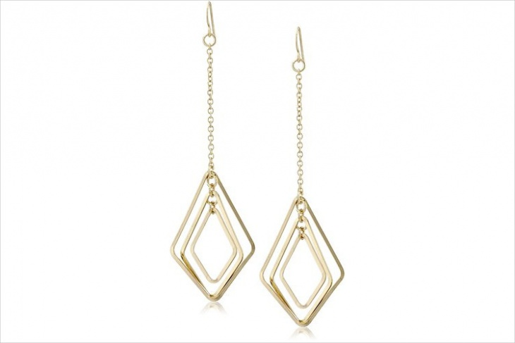 geometric wire earrings