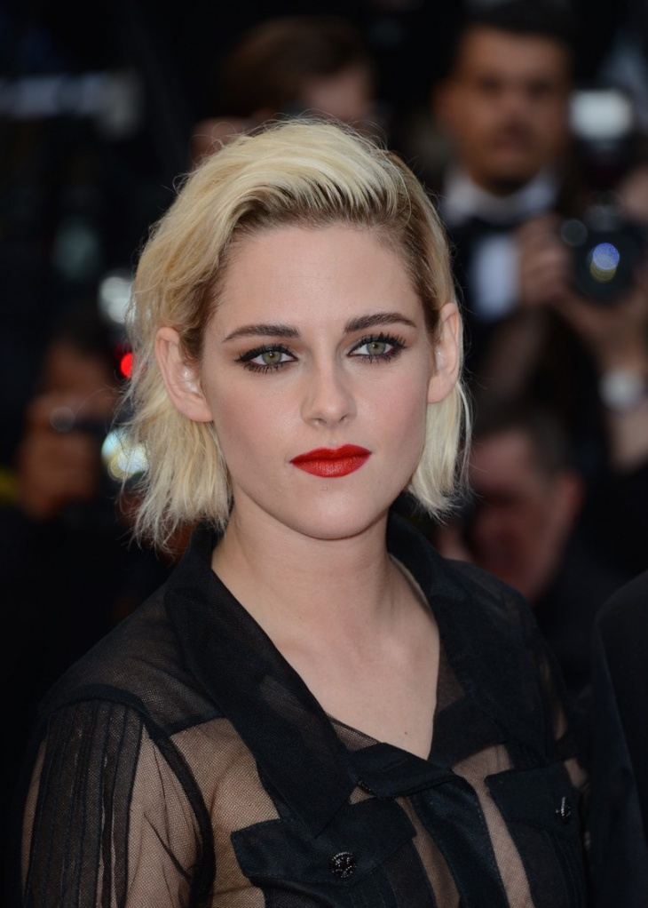 kristen stewart short tucked hair