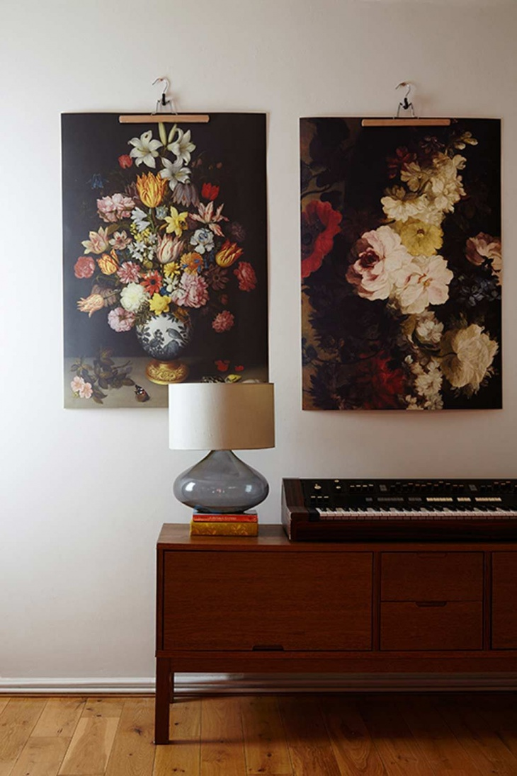 enlarged floral painting