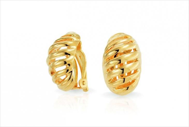 Geometric Clip on Earrings