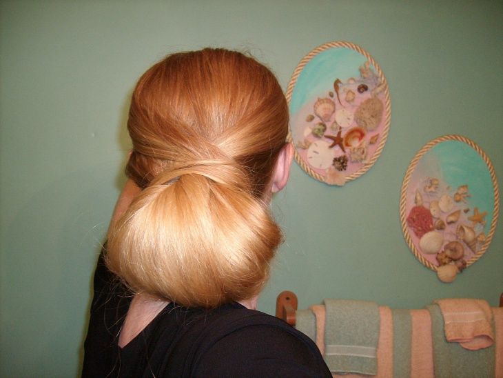 tucked big bun hairstyle