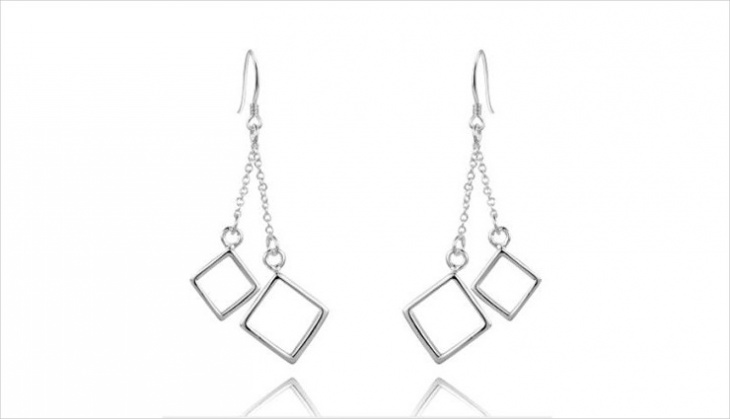 classic square drop earrings