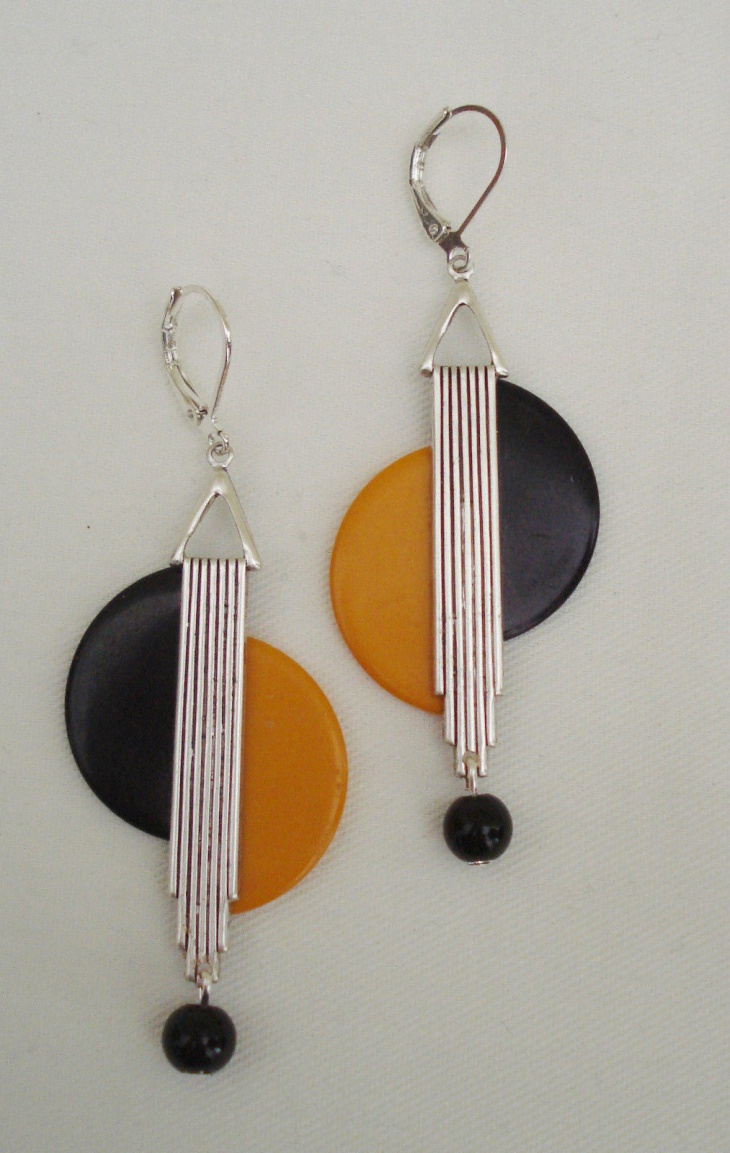 black geometric and india earrings buy at online