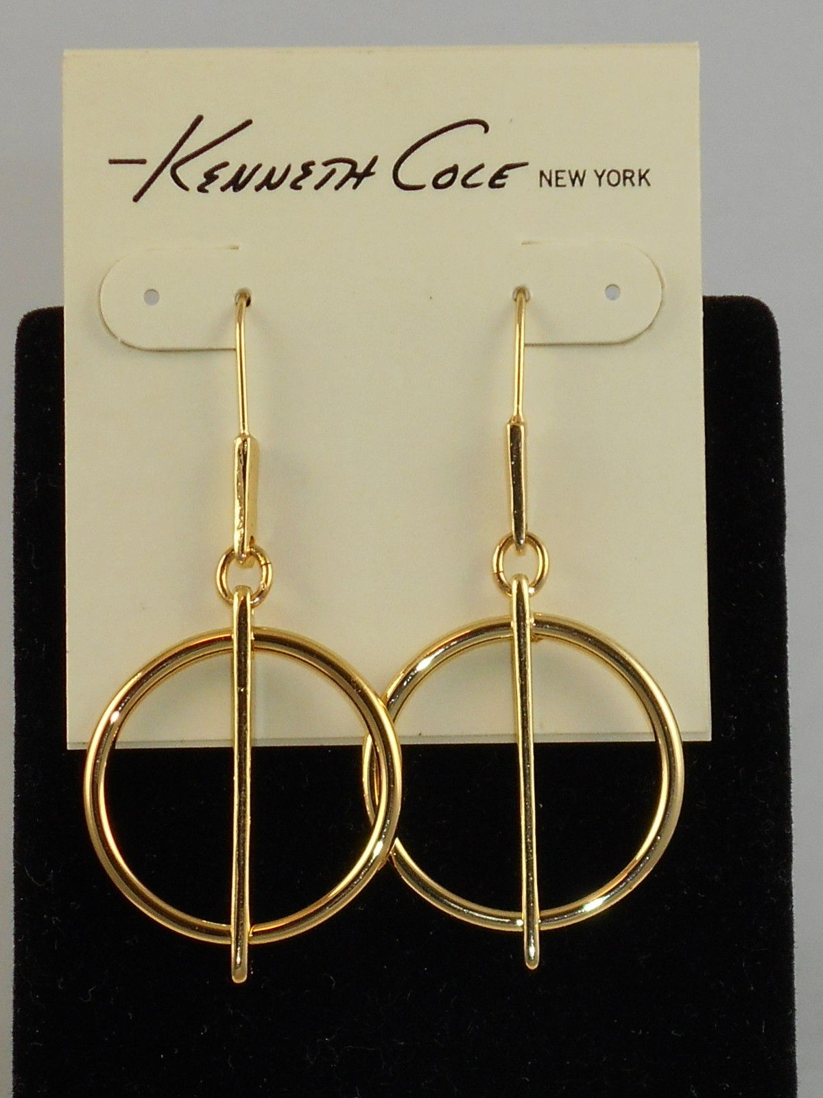 circle drop geometric earrings