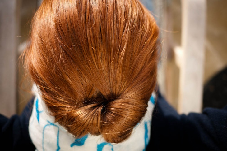 simple tucked hairstyle